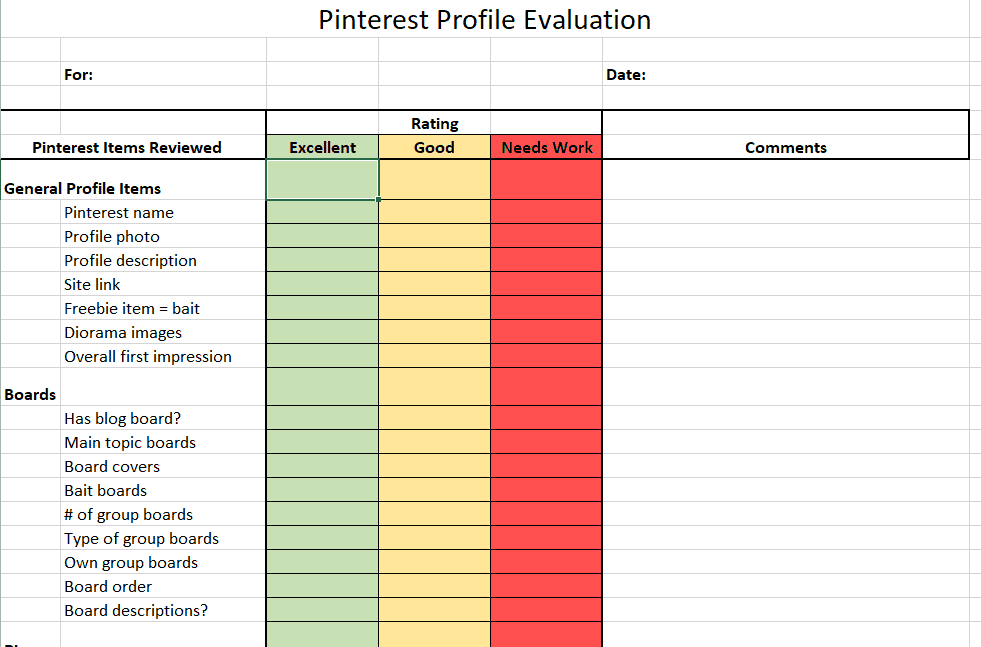 Expert Pinterest Review checklist