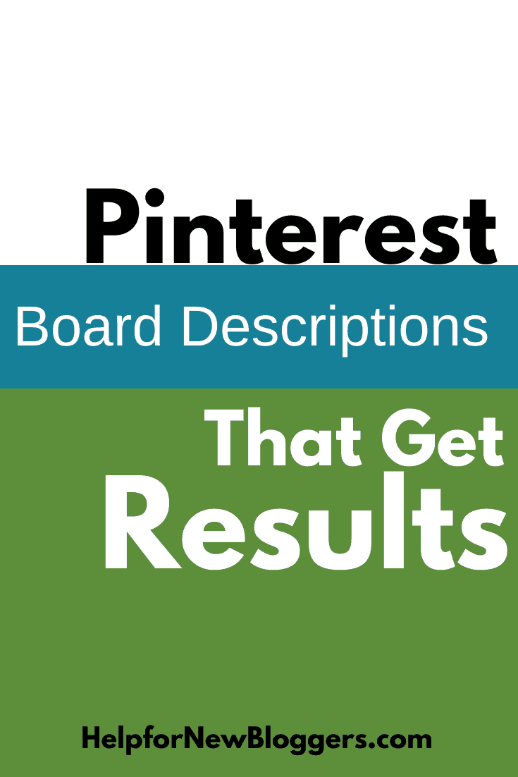 Pinterest board descriptions