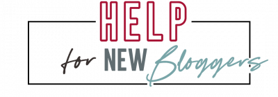 Help for New Bloggers Logo - Red
